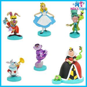 Disney Store Alice in Wonderland 6 piece Figure Play Set cake topper