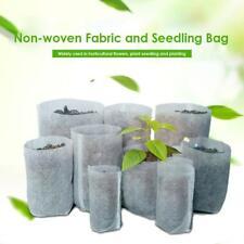 100pcs Biodegradable Non-woven Nursery Bag Garden Plant Grow Bags Seedling Pots