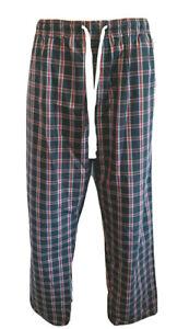 NEW MAN'S HANES SOFT  COTTON BLEND PJ Pajamas  LOUNGE PANTS SZ L 36-38  PLAID