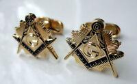 ZP25 Masonic Masons cufflinks Freemason Square Compass Vintage Style with G