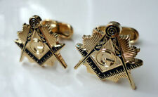 ZP25 Masonic Masons cufflinks Freemason Square Compass  with G