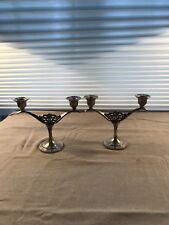 Oneidea  silversmiths Candle Holder set of 2