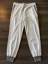 1,025$ Loro Piana Super Soft White Cotton Sweatpants Size Large, Made in Italy