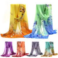 Women's Fashion Long Scarves Soft Silk Wrap Lady Shawl Chiffon Scarf