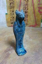 Egyptian Antiques Anubis God Jakal Dog Statue Craft Old Kingdom sculpture Bc