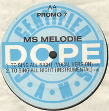 Steady B / Ms Melodie – Serious / To Sing All Night - Jive – PROMO 7 - Uk 1988