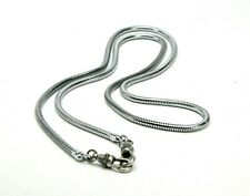 """Silver 36"""" Long Chain Camera Neck Strap With Special Safety Clasps. Ex. No Dents"""