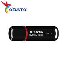 ADATA UV150 32GB USB 3.1 Gen1 Snap-on Cap Design USB Flash Drive (Black)