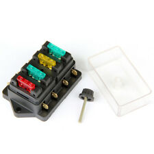 New listing 4-Way Blade Fuse Block Box with 10A 20A 30A 4 Fuses for Marine Car Automotive