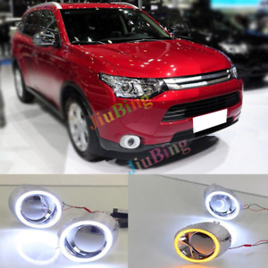 For Mitsubishi Outlander 2013-2014 DRL Daytime Running Lights With Turn Signal