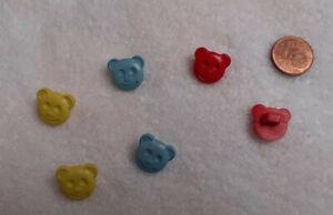 Kinderknöpfe 2erSet= 2 Stück=1,50 €  TeddyGesicht mit Öse  15mmg