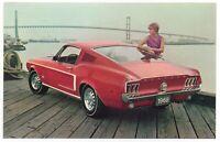 1968 Ford Mustang 2+2 Fastback Original Dealer Promotional Postcard UNUSED Ex ^