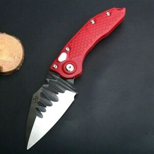 """Drop Point Folding Knife Pocket Hunting Survival Combat Tactical Forged Steel 3"""""""