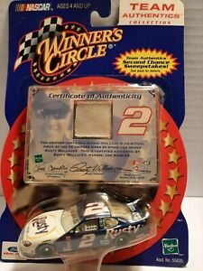 Winners Circle Team Authentics- Rusty Wallace  #2 car & white piece of uniform