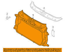 PORSCHE OEM 10-16 Panamera-Radiator Core Support Bracket Panel 97050448101