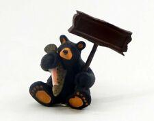 Big Sky Carvers Bearfoots Fishing Bear Personalizable Figurine New Free Shipping