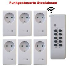 1-6 SPAR SET Ersatz Strom-dosen Funk-steckdosen mit Fernbedienung Funk-Steuerbar