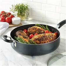 T-fal B36290 Specialty Nonstick 5 Qt Jumbo Cooker Sauté Pan with Glass Lid Black