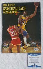 Magic Johnson Lakers Signed AUTOGRAPH Complete Beckett Magazine BAS Beckett COA