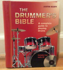 The Drummer's Bible Justin Scott + Cd Complete Guide to Playing Drums Hardback