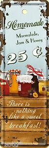 Nostalgic Art Homemade Marmelade Jam Honey Bookmarks Tin Sign 15 x 5