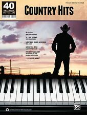 Country Hits  40 Sheet Music Bestsellers Series Piano Vocal Guitar Son 000322423