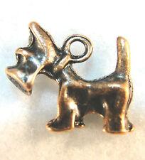 10Pcs. Tibetan Antique Copper SCOTTIE TERRIER DOG Charms Pendants Findings D41