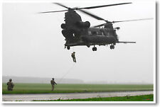 MH47 Chinook Helicopter Drop Off - US Airforce Military POSTER