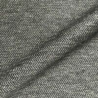 "Lexington Black Herringbone Chevron Upholstery Fabric by the Yard - 54"""