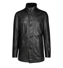 Hugo Boss Leather Jacket Askal-1 BMB-011 Black Size 44R