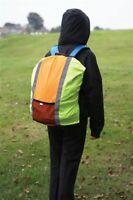 Rucksackcover Regenhülle Regenschutz Reflektoren mit kleiner aufgesetzte Tasche