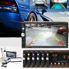 Double Din HD Blueteeth Car In-dash Video Audio Stereo Radio Player Rear Camera