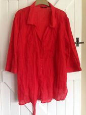Evans Size 30 Red Blouse Top