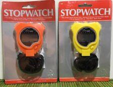 New Champion All Sports Walking Running Stopwatch Timer Alarm Orange Yellow Set