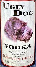 Ugly Dog Vodka Bottle -empty