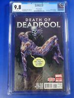 CGC Comic graded 9.8 (NM/MT) marvel Deadpool  #45  death of tony moore variant