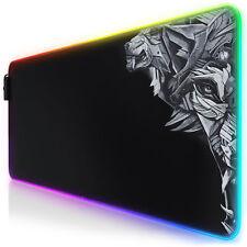 Titanwolf Lightning RGB Gaming Mauspad 800 x 300 x 4mm XL-Format LED Multi Color