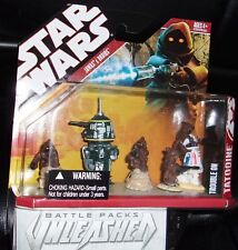 2007  STAR WARS. UNLEASHED BATTLE PACK.TROUBLE ON TATHOOINE. JAWAS & DROIDS