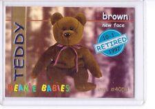 Ty S1 Blue Retired *Teddy New Face Bear * Beanie Card Insert Series 1 Rare