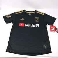 Adidas LAFC Los Angles FC MLS YouTube Soccer Jersey Boys Size 4 Small