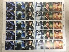 30 Star Wars First Class Stamps Mint Condition Type A