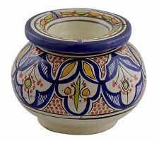 Ashtray Extra Large Moroccan Ceramic New Outdoor Smokeless Cigar Patio Garden