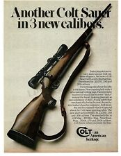1974 COLT SAUER Bolt Action Rifle 22, 243, 308 caliber VTG PRINT AD