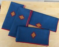 Longaberger Cloth Napkins Sunset Collection Set Of 4 Fabric Table Setting Decor