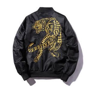 Men's Air Jacket MA1 Army Flight Bomber Jacket Coat Embroidery Outwear