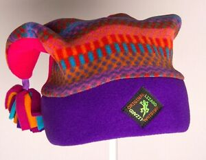Purple Pom-Pom Designer Fleece Ski and Outdoor Hat by Original Lizard