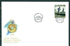 Aland 2002 Janne Holmen on unaddressed post office first day cover