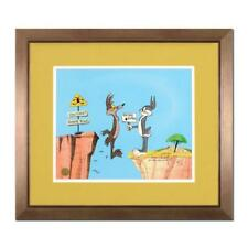 """Chuck Jones (1912-2002) """"Coyote Crossing"""" Sold Out Framed Limited Edition Cel"""