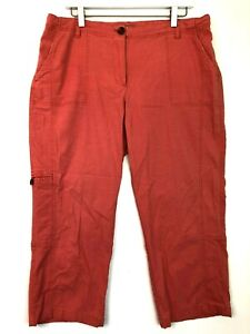 J.jill utility crop cargo pants pink size 16
