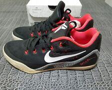 low priced 3c478 c064c Nike Kobe IX 9 EM Black Laser Crimson White 646701-001 Size US8.5